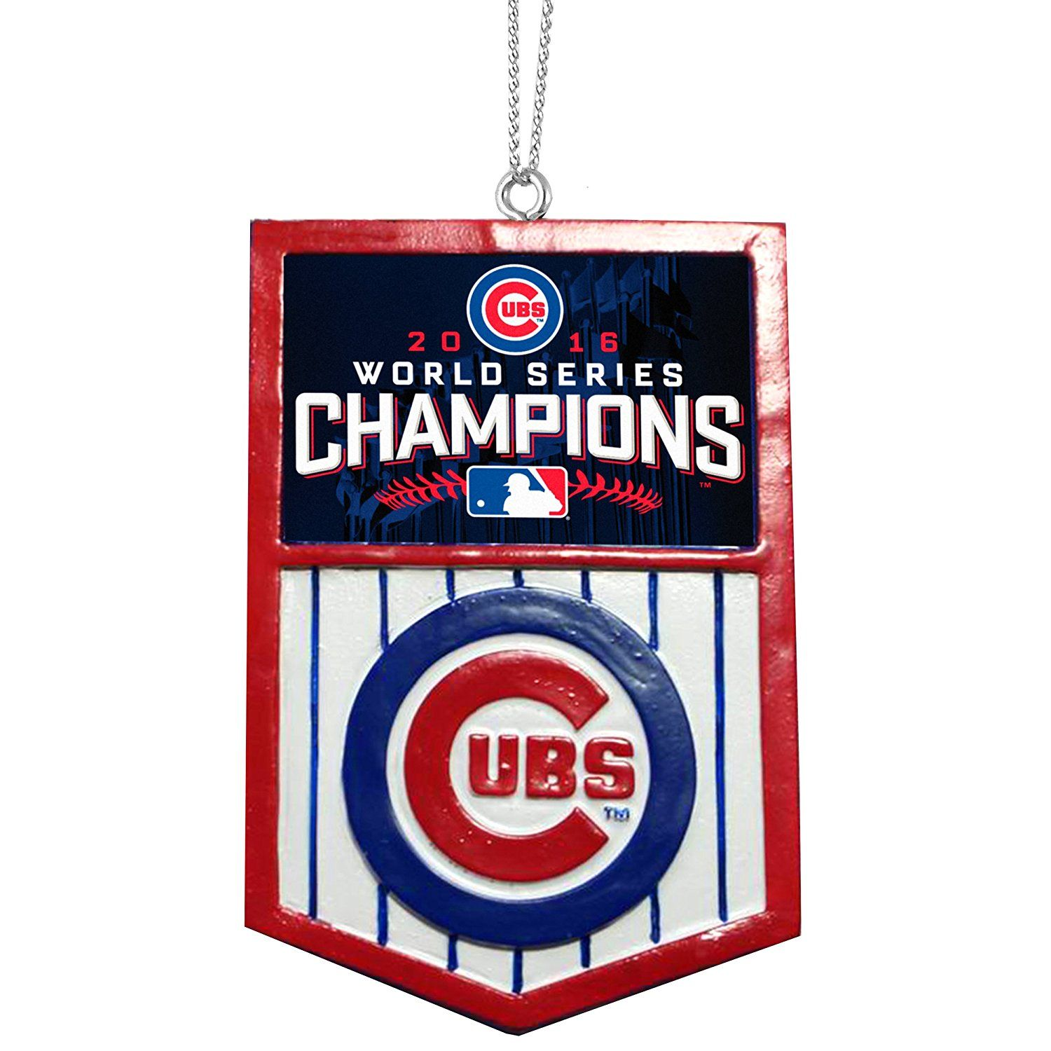 Mlb Chicago Cubs World Series 2016 Champions Holiday Ornament Banner