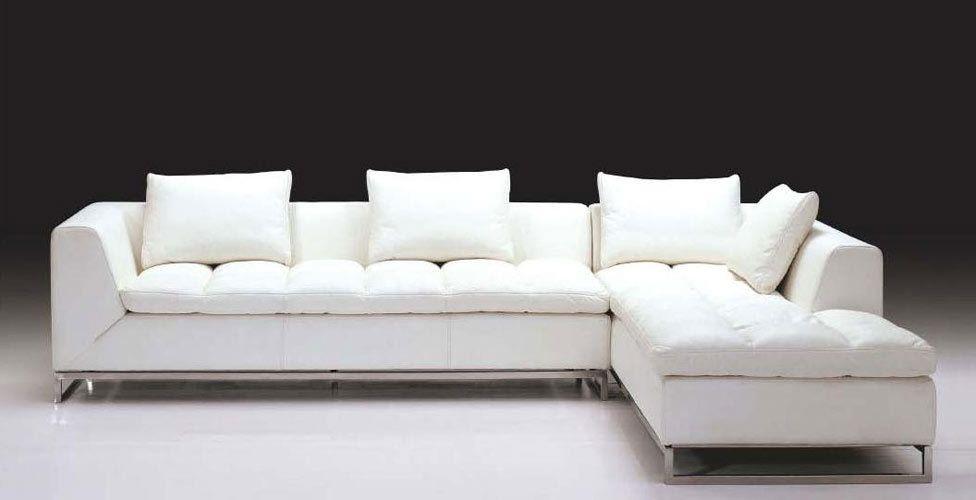 Stylish Design Furniture Pozzuoli Modern Contemporary Sectional Sofa 1 725 00 Http W White Leather Sofas Contemporary Leather Sofa L Shaped Sofa Designs