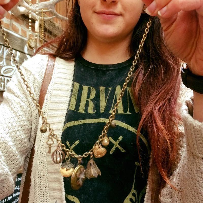 "4 Likes, 1 Comments - Nostalgems (@nostalgems) on Instagram: ""Lovely choice of little trinkets and charms #nostalgems #jewellery #jewellerynz #charmnecklace"""