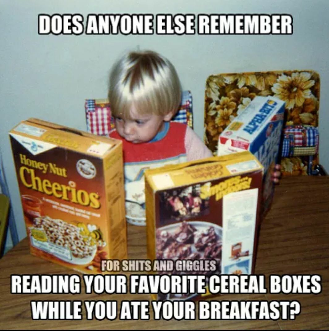how to eat cereal meme