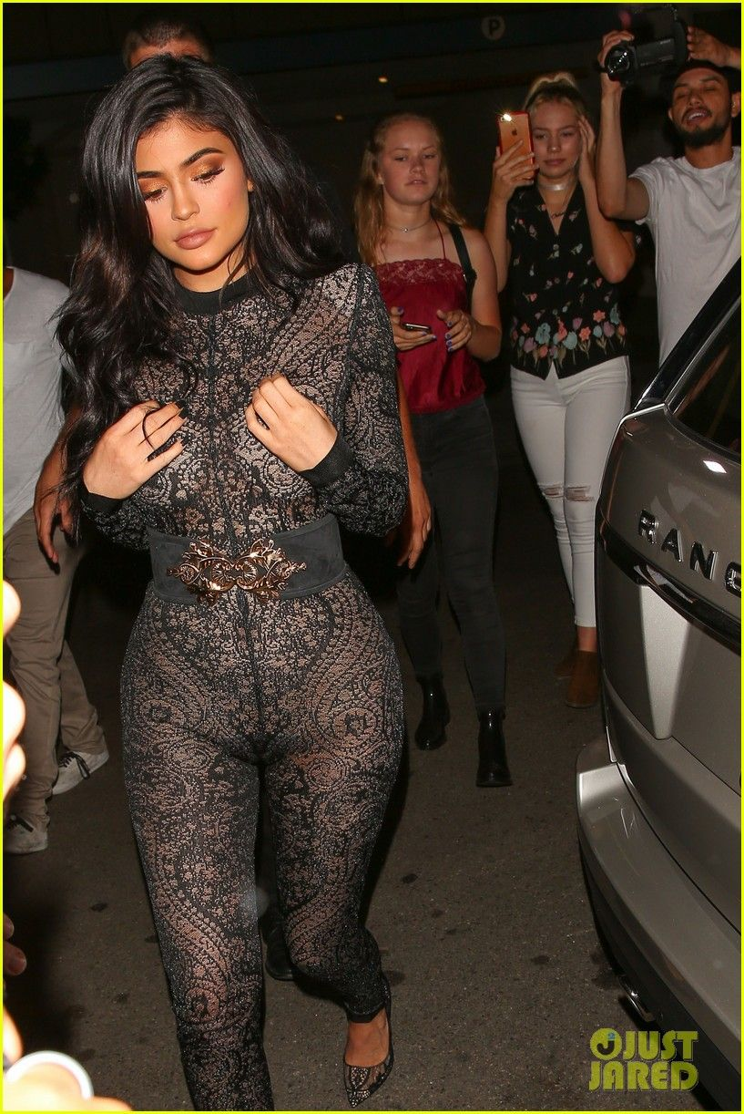 952b961665d Kylie Jenner Wears Super Sexy Lace Jumpsuit for 19th Birthday Party!  Photo   3722955. Kylie Jenner rocks a sexy lace jumpsuit while stepping out to ...