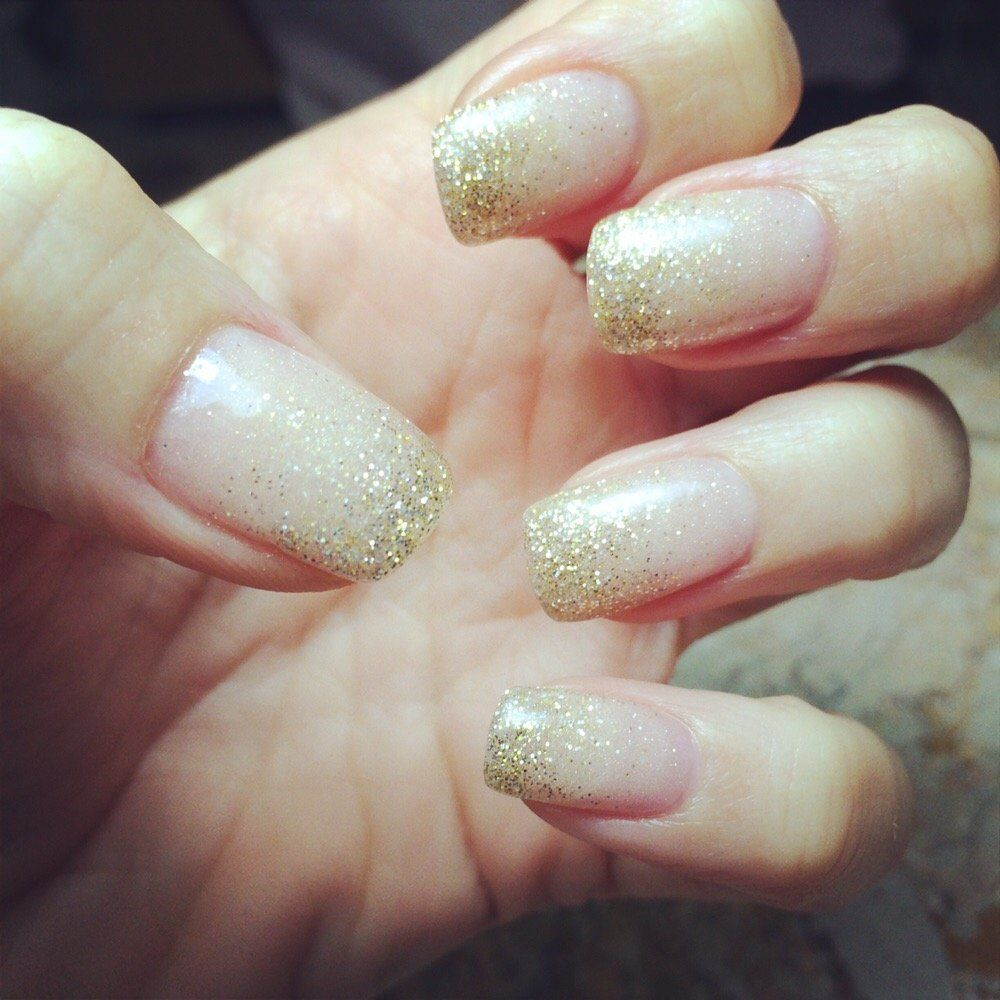 KB Nails - Bee Cave, TX, United States. Neutral glitter ombré nails ...