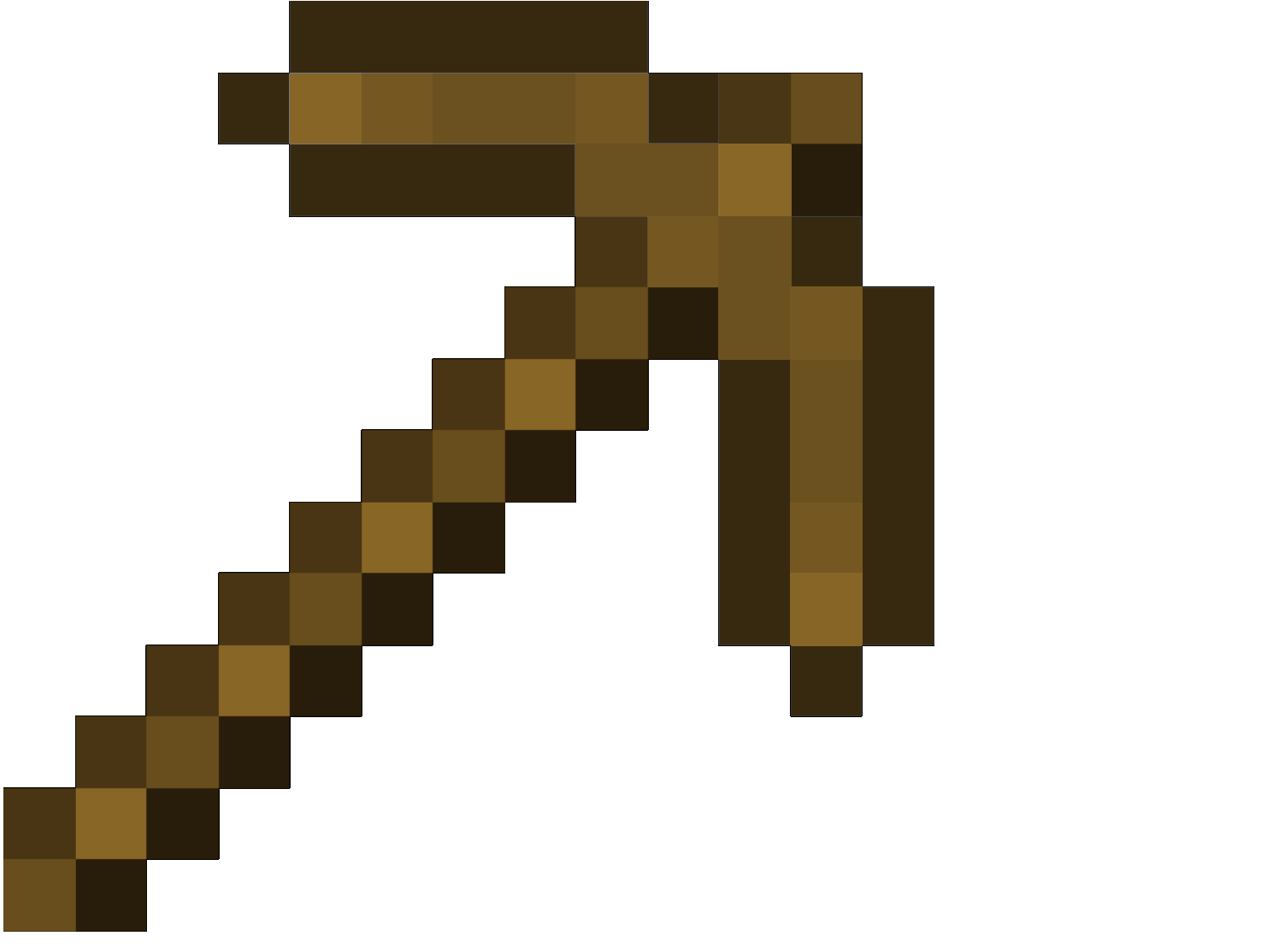 How To Craft A Wooden Pickaxe In Minecraft