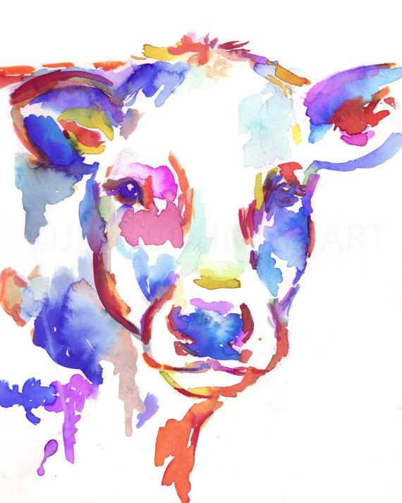 Cow Watercolor Print Animal Watercolor Cow By Jessbuhmanart With