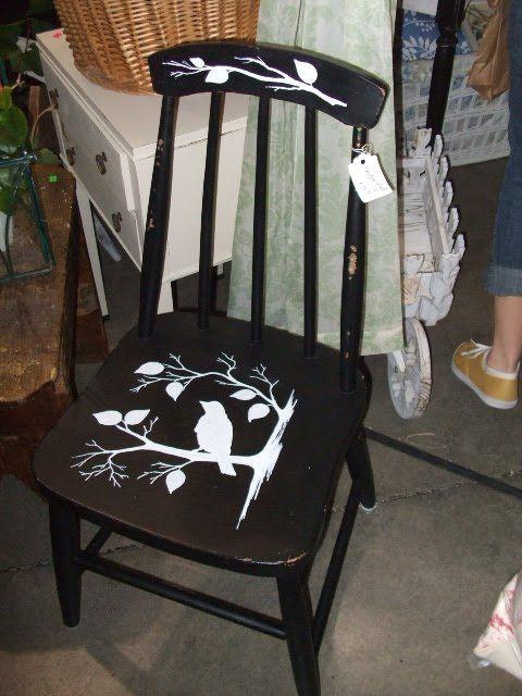 Stenciled chair