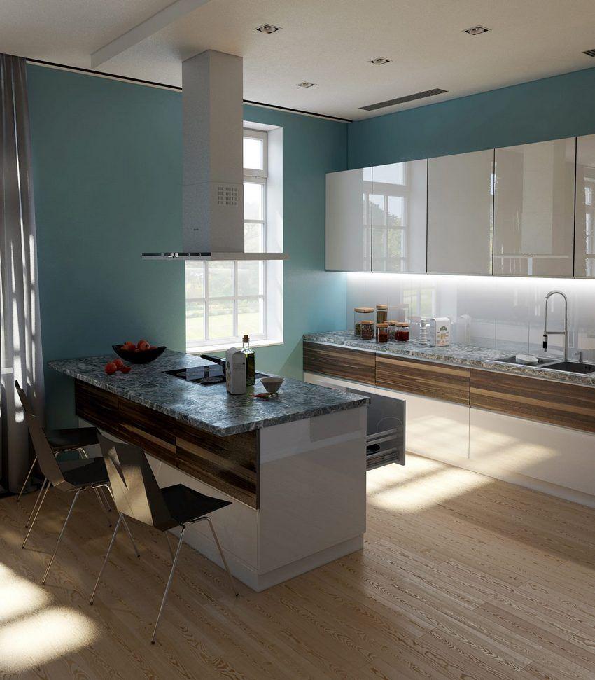 Modern, elegáns konyha, igényes és szép anyagokkal, felületekkel ...