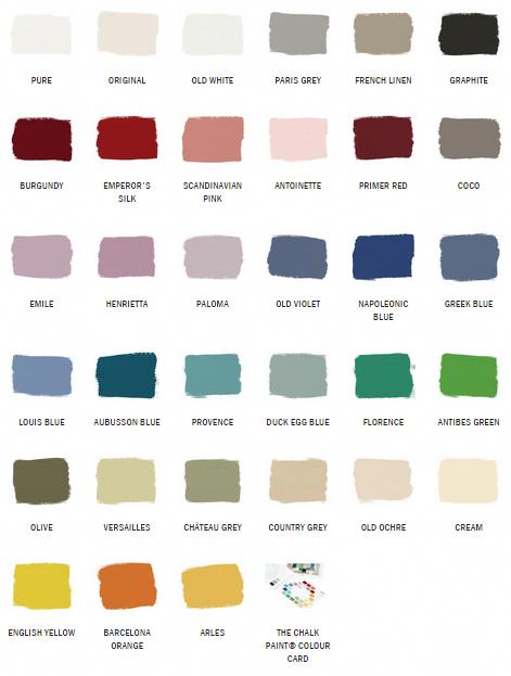 Annie Sloan Chalk Paint Color Chart Kitchenfurniturecountertops Annie Sloan Chalk Paint Colors Annie Sloan Paint Colors Annie Sloan Chalk Paint Colour Chart