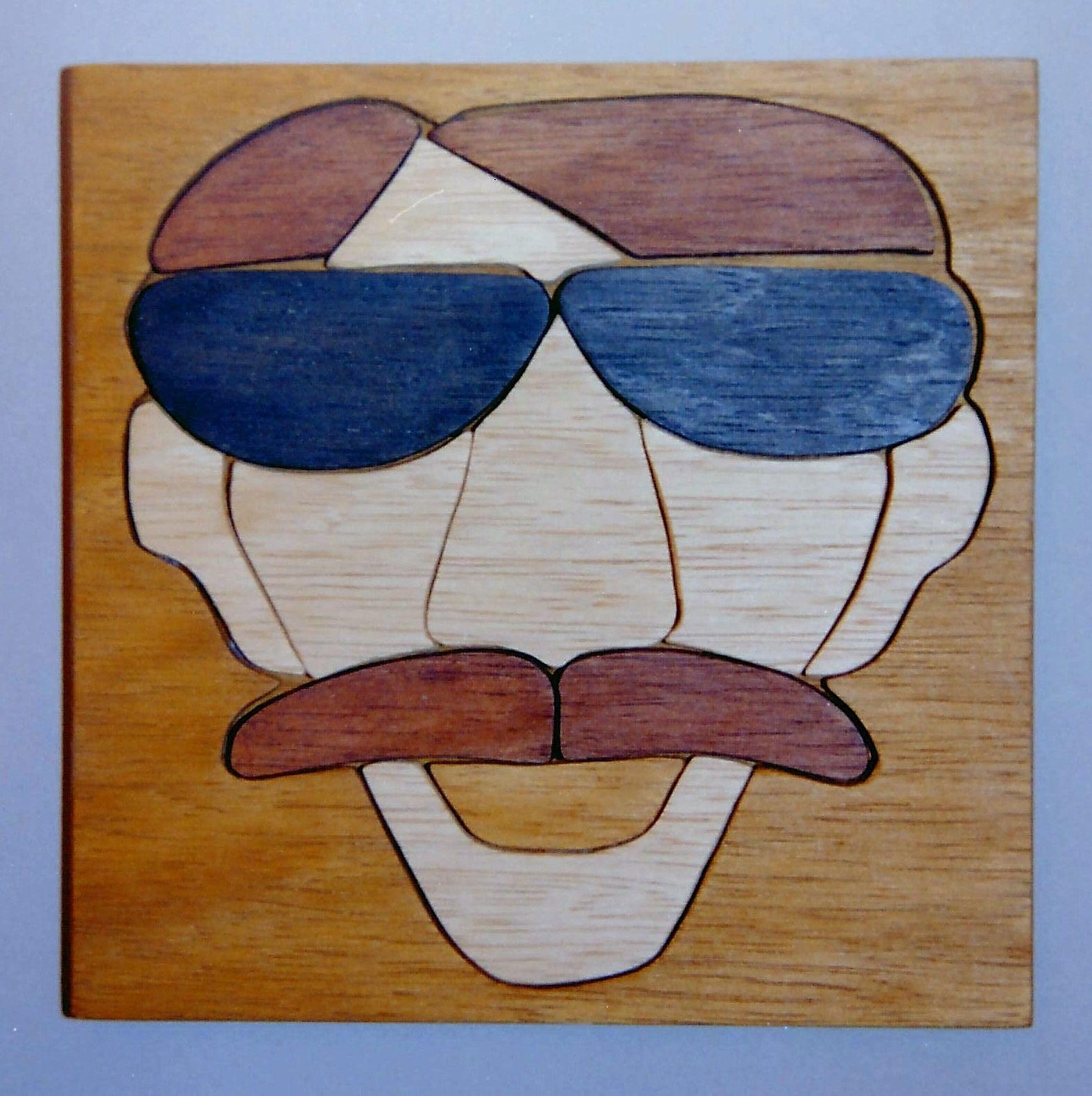 Holz, Spielzeug, Puzzle mit Rahmen und Grundplatte, ca 15 x 15 cm ...
