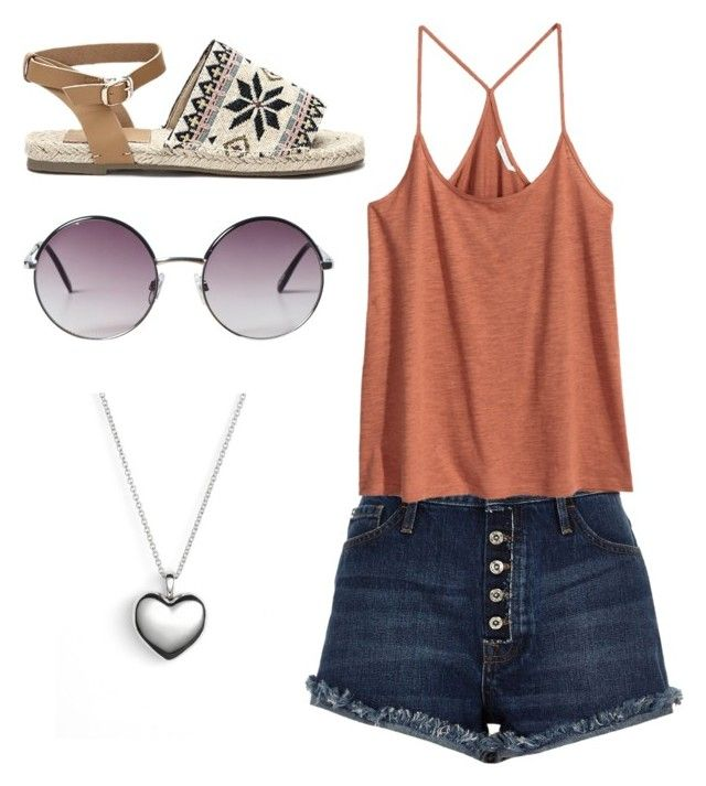 """""""hot days"""" by abbeyelizabeth5 ❤ liked on Polyvore featuring River Island, Monki and Pandora"""