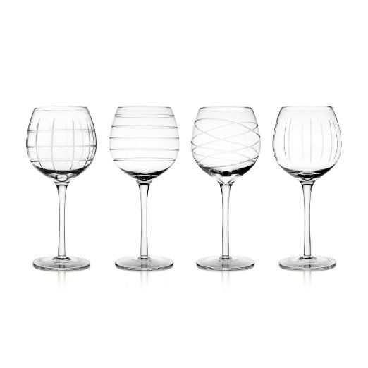 Amazon.com: Fifth Avenue Crystal Medallion Wine Goblets, Set of 4: Kitchen & Dining