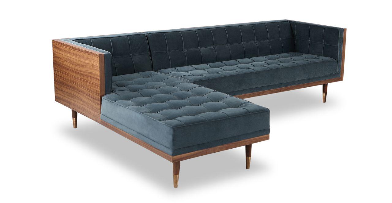 Marvelous Woodrow Box Sofa Sectional Left Walnut Neptune Home In Cjindustries Chair Design For Home Cjindustriesco