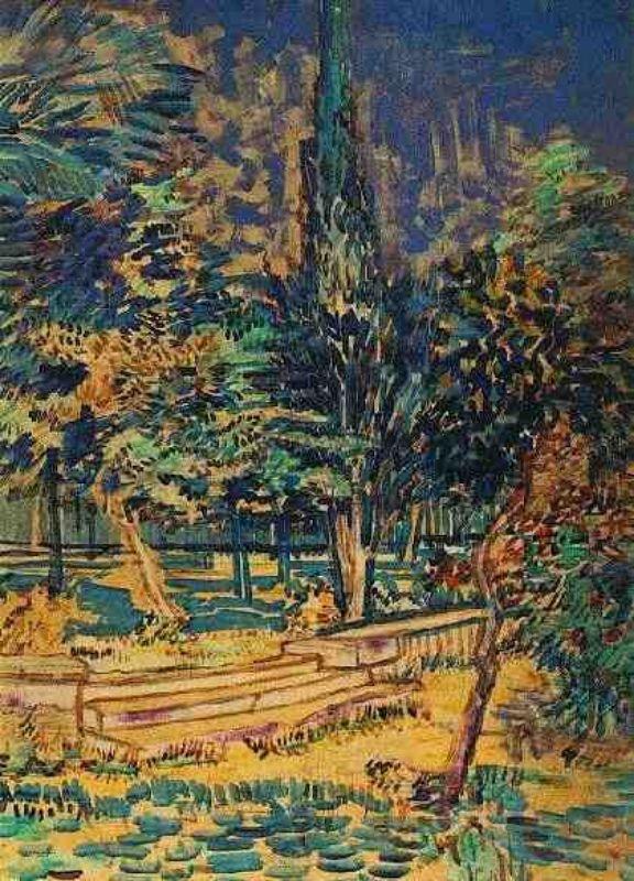 Marches En Pierre Du Jardin De L Hopital Saint Paul V Van Gogh