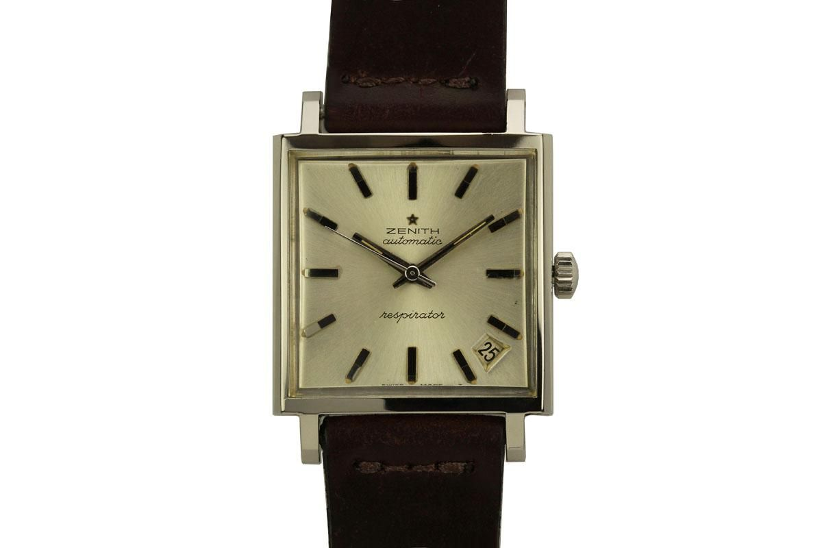 3e44e160bea5a 1960 Zenith Respirator Watch For Sale - Mens Vintage DateTime only Zenith  Watch