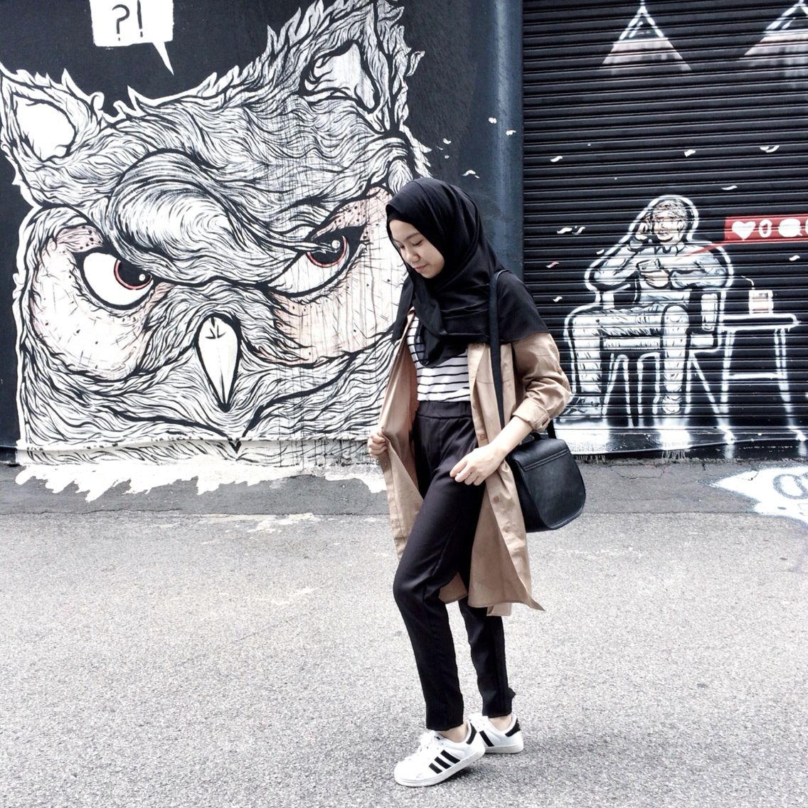 Malaysian Girls Named Hijab Hipster Hijabster Photo By Kay Tendencies Tshirt Off Line Hitam M Kayniss In Instagram