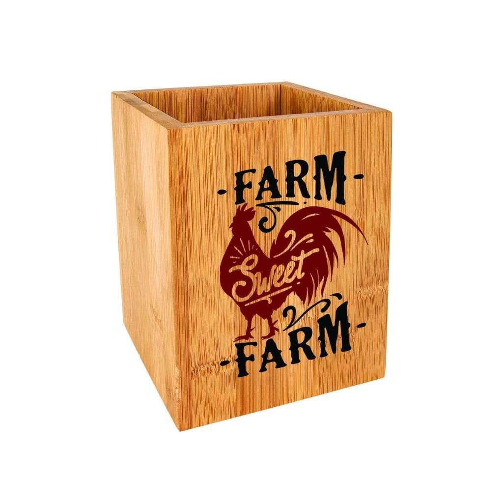 Farmhouse utensil holder kitchen utensil organizer