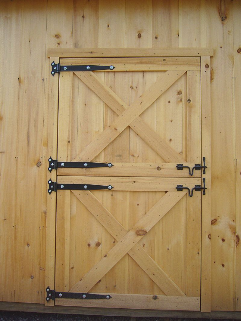 Dutch barn doors how to build dutch door page to for Exterior shed doors design