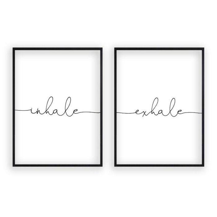 'Inhale Exhale' Textual Art
