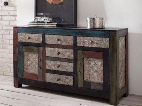 goa kommode im angesagtem industrial style holz natur in farbe pinterest wolf m bel. Black Bedroom Furniture Sets. Home Design Ideas