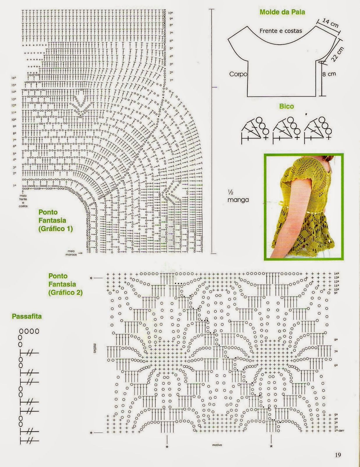 Patrones Crochet: Top con Volantes Patron | Anillas | Pinterest ...