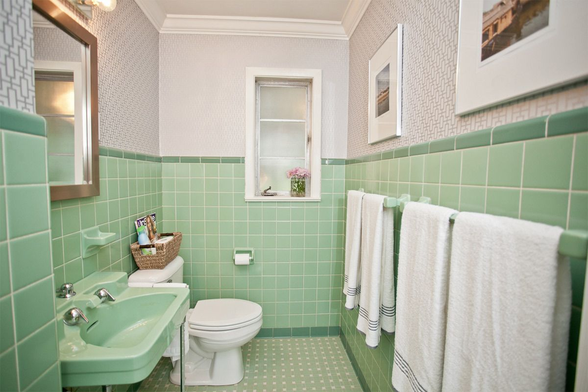 Apartment Therapy Color Search Green Bathroom Green Tile Bathroom Green Bathroom Decor
