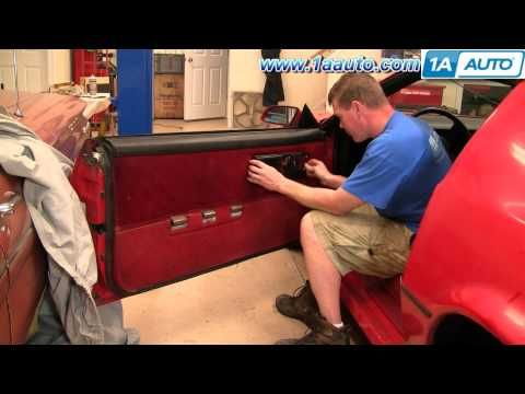 How To Install Remove Door Panel 82 92 Chevy Camaro Iroc Z And Pontiac Trans Am 1aauto Com Youtube Lgmsports Com Camaro Iroc Chevy Camaro Pontiac Firebird