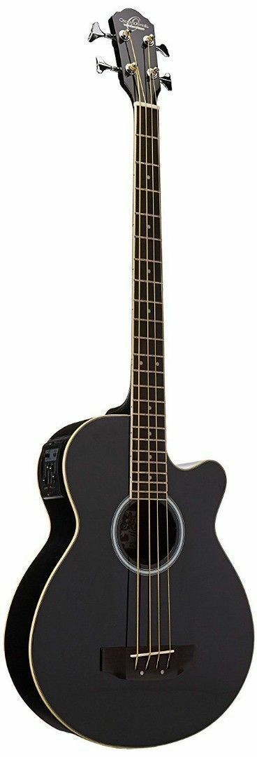 Oscar Schmidt Ob100b Acoustic Electric Black Hollow Body Bass With Gig Bag Price 2 Acoustic Guitar For Sale Electric Guitar For Sale Acoustic Electric