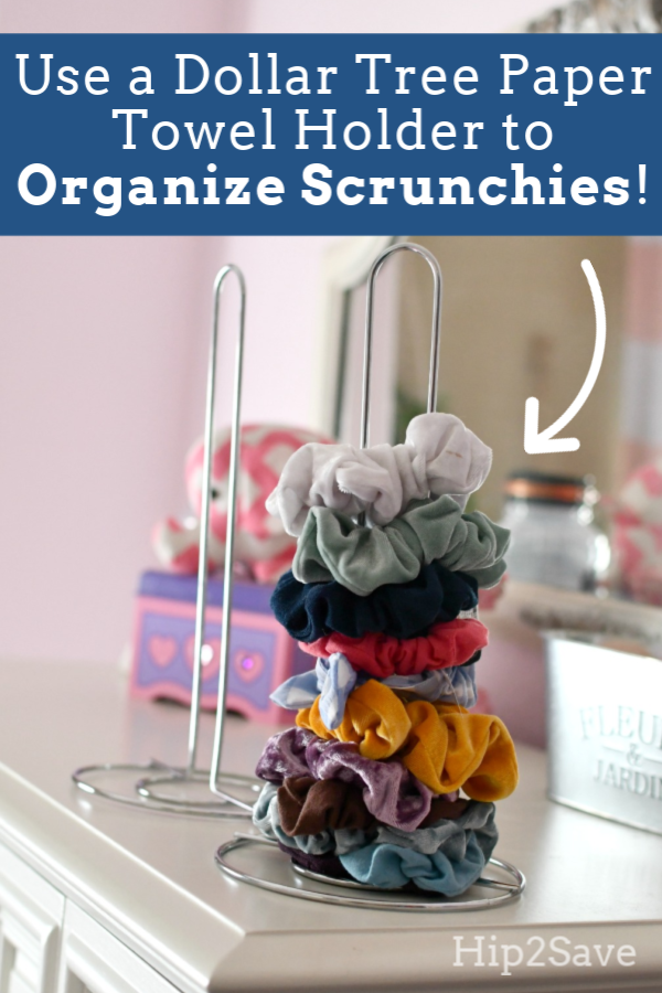 Organize Scrunchies for Just $1 Using This Dollar Tree Item #organize