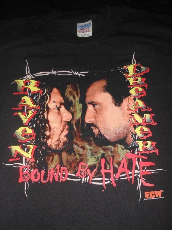 966bb2a4f1d orig ECW Raven   Tommy Dreamer shirt - rare vintage wrestling wwf ...