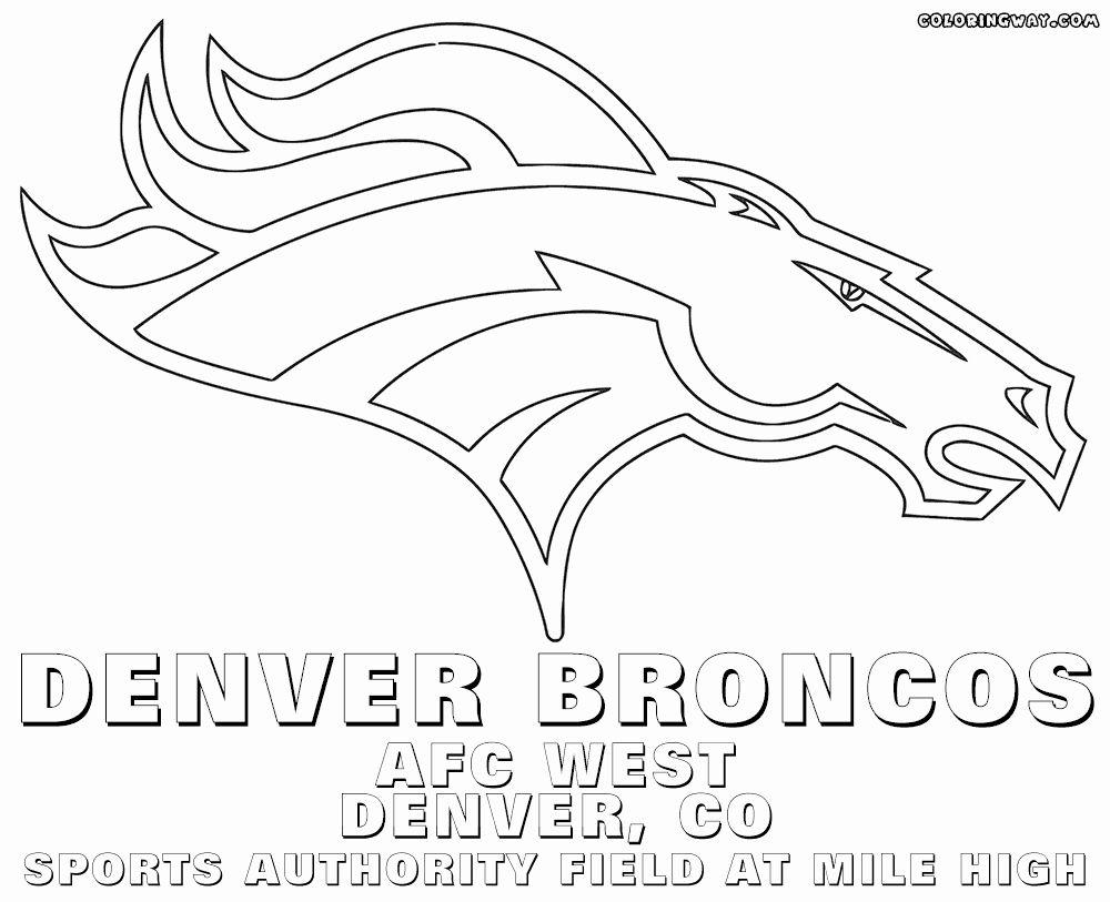 Denver Broncos Coloring Page Luxury Nfl Logos Coloring Pages In 2020 Denver Broncos Broncos Broncos Logo