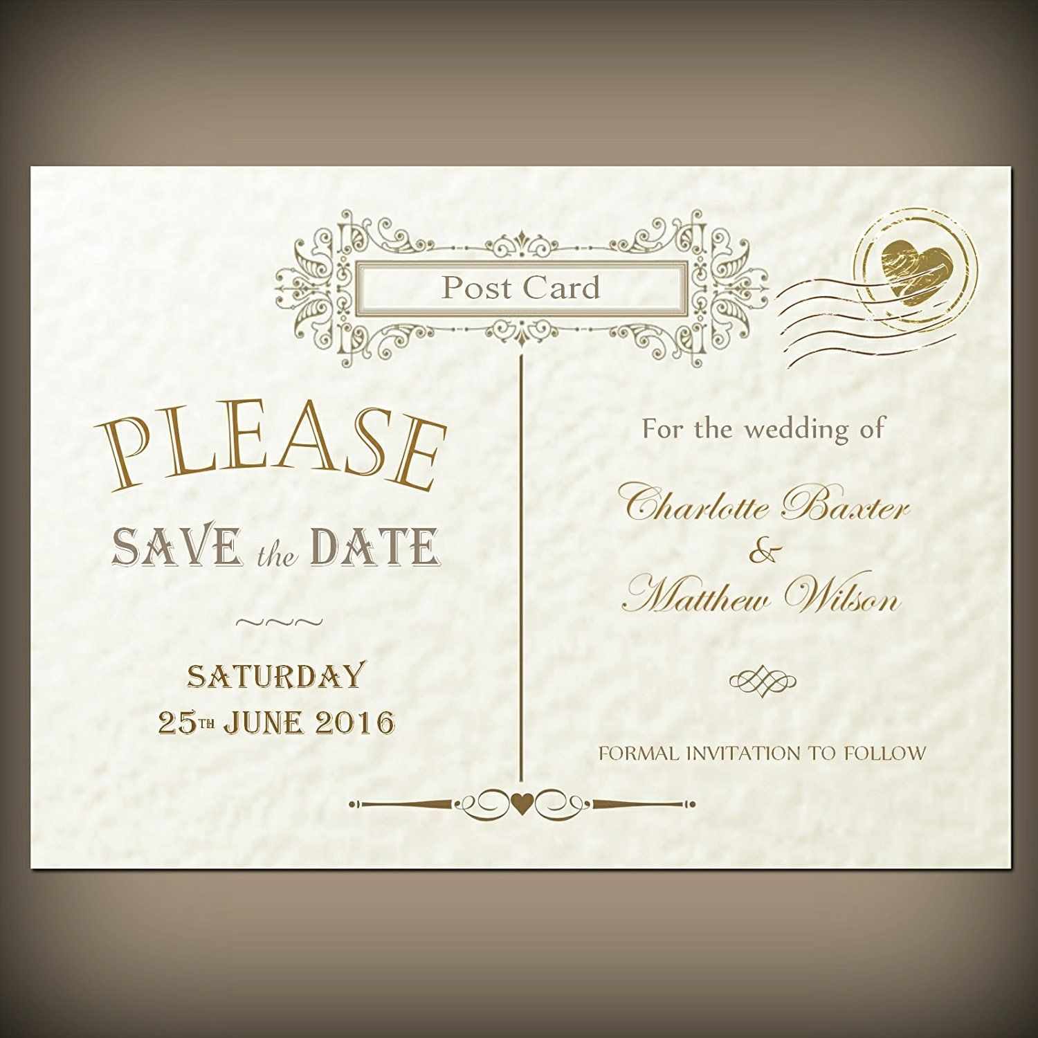 50 personalised save the date cards envelopes victorian vintage 50 personalised save the date cards envelopes victorian vintage post card design ivory monicamarmolfo Choice Image