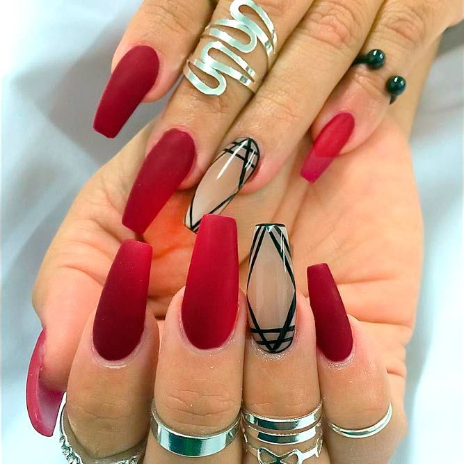 21 Ideas of Beautiful Red Nail Designs - Nails C - 21 Stylish Red In 2018 Nails Pinterest Red Nail Designs, Red