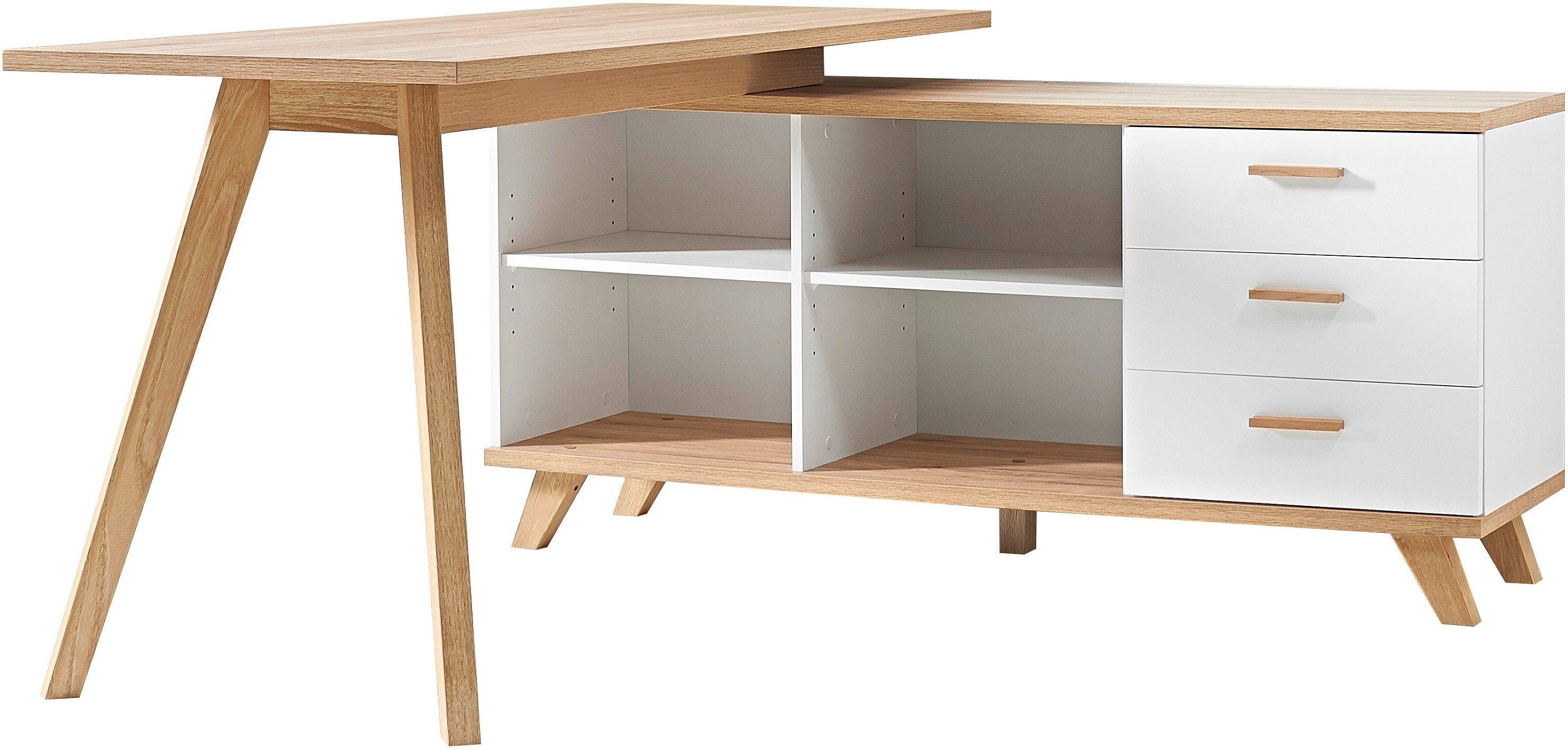 Schreibtisch Oslo Von Germania Otto Ihr Online Shop Schreibtisch Mit Integriertem Sideboard Sideboard Mit 4 Offe Eckschreibtisch Ecktisch Schreibtisch