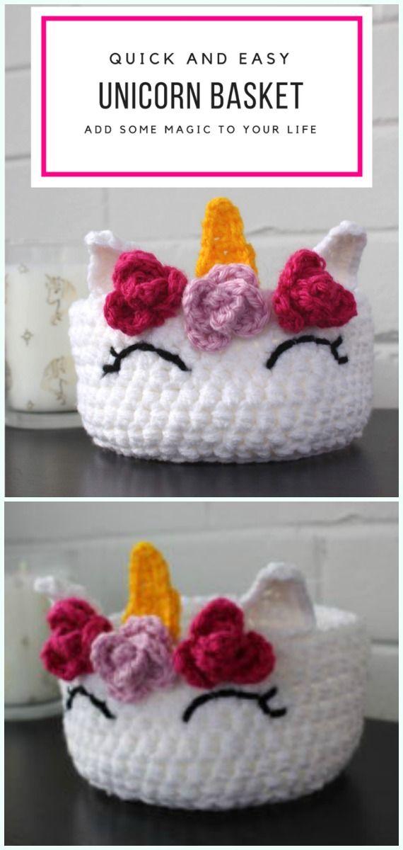 Storage Basket Free Crochet Patterns
