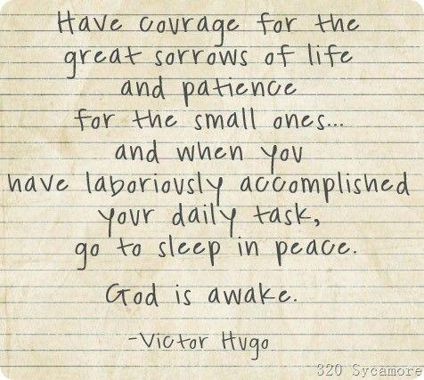 God is always awake