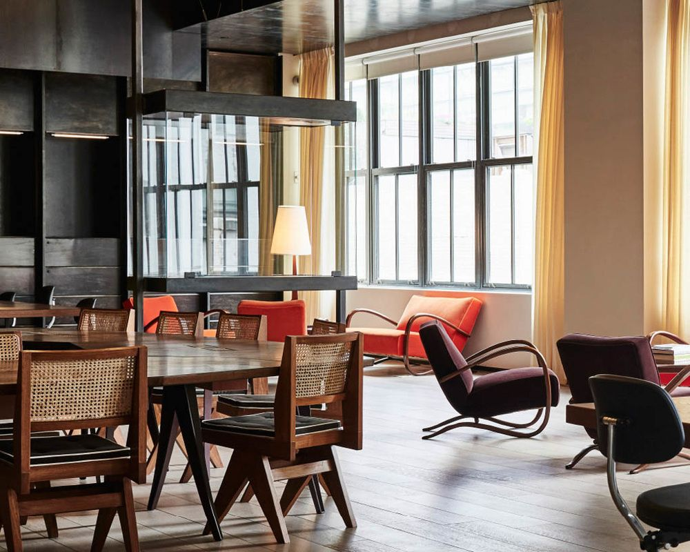 Spring Place Interior Communal Workspace Soho House House