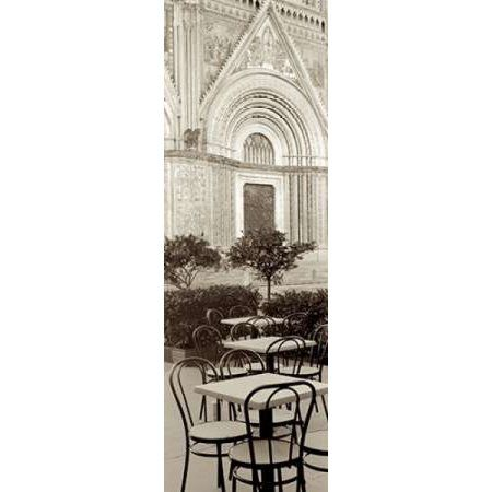 Orvieto Caffe - 1 Canvas Art - Alan Blaustein (8 x 24)