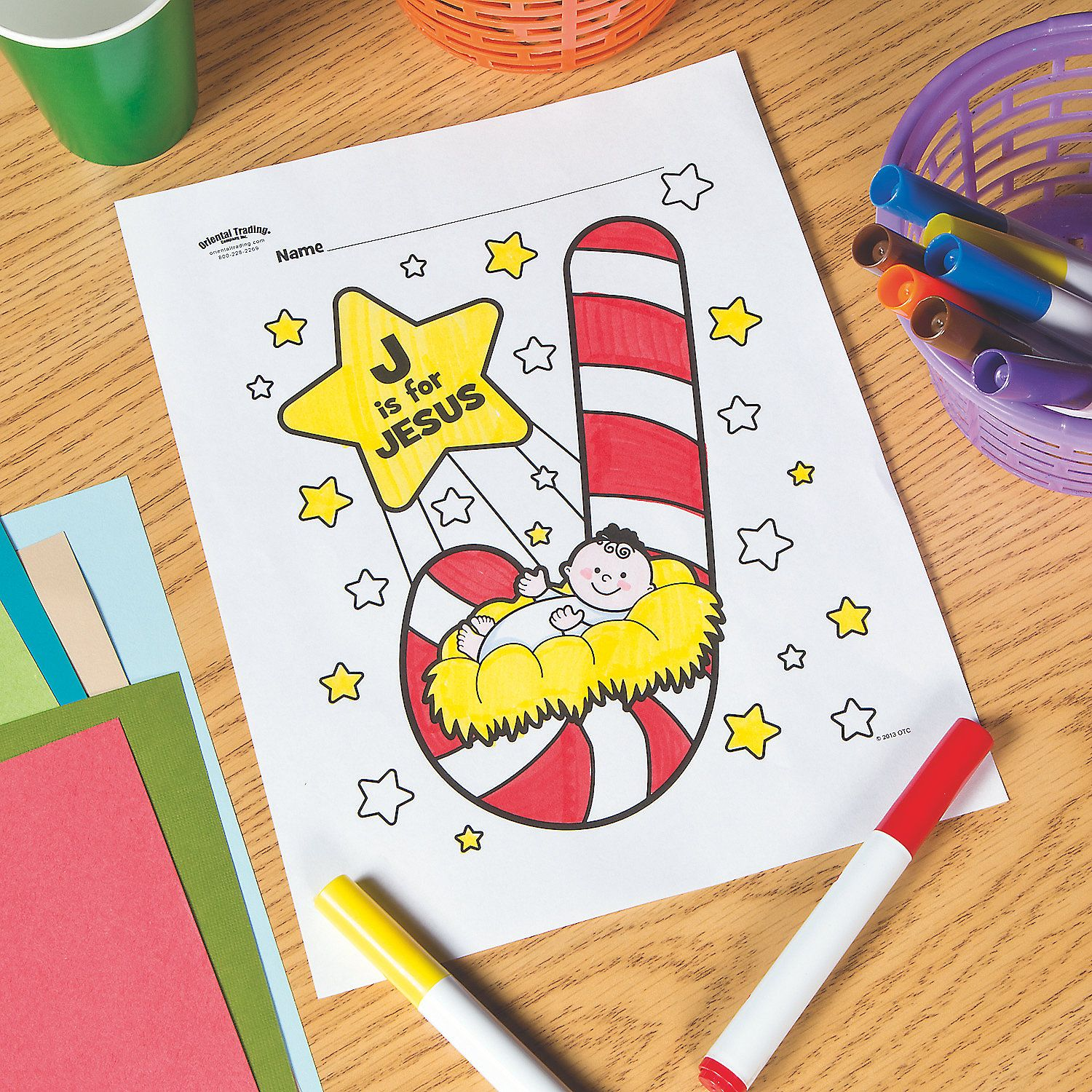 J Is For Jesus Free Printable Coloring Page