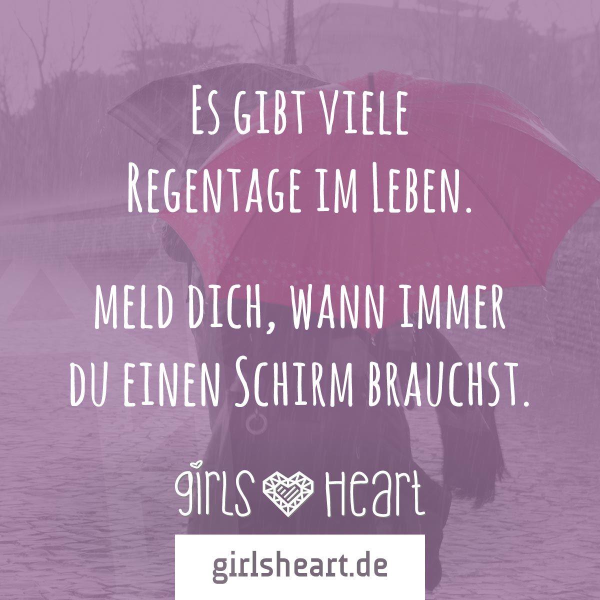 Mehr Sprüche auf: .girlsheart.de #regen #regenschirm #leben