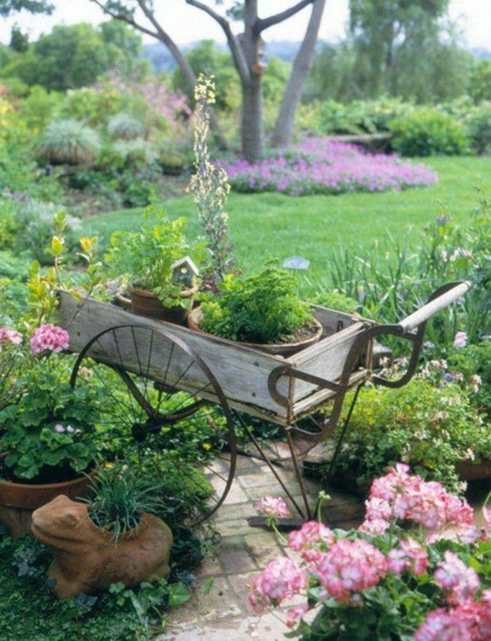 40 Beispiele für Shabby Chic Garten mit Vintage-Flair ...