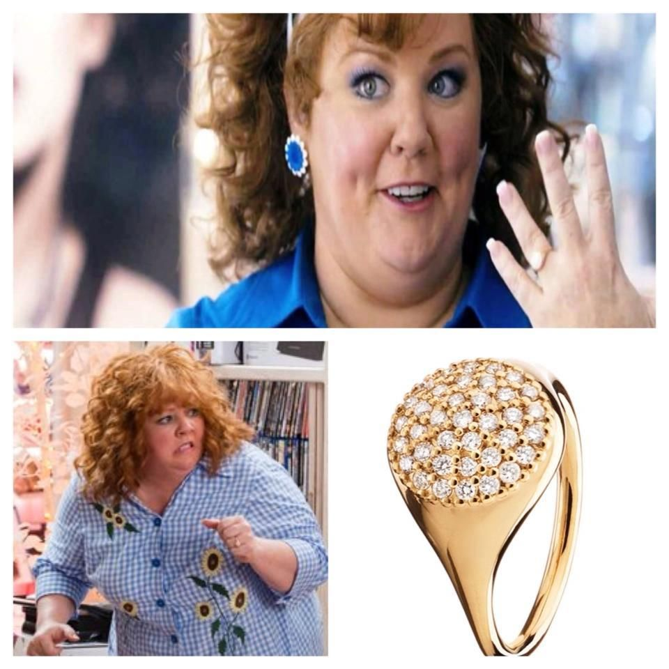 Melissa McCarthy wears our XL LovePod ring in the movie Identity