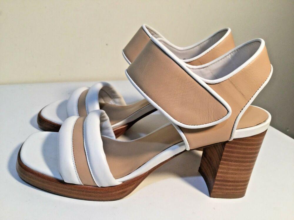 e3e714a343c7d Zoe Wittner Design Women's Size AU 6 / EUR 37 Leather Open Toe Block ...