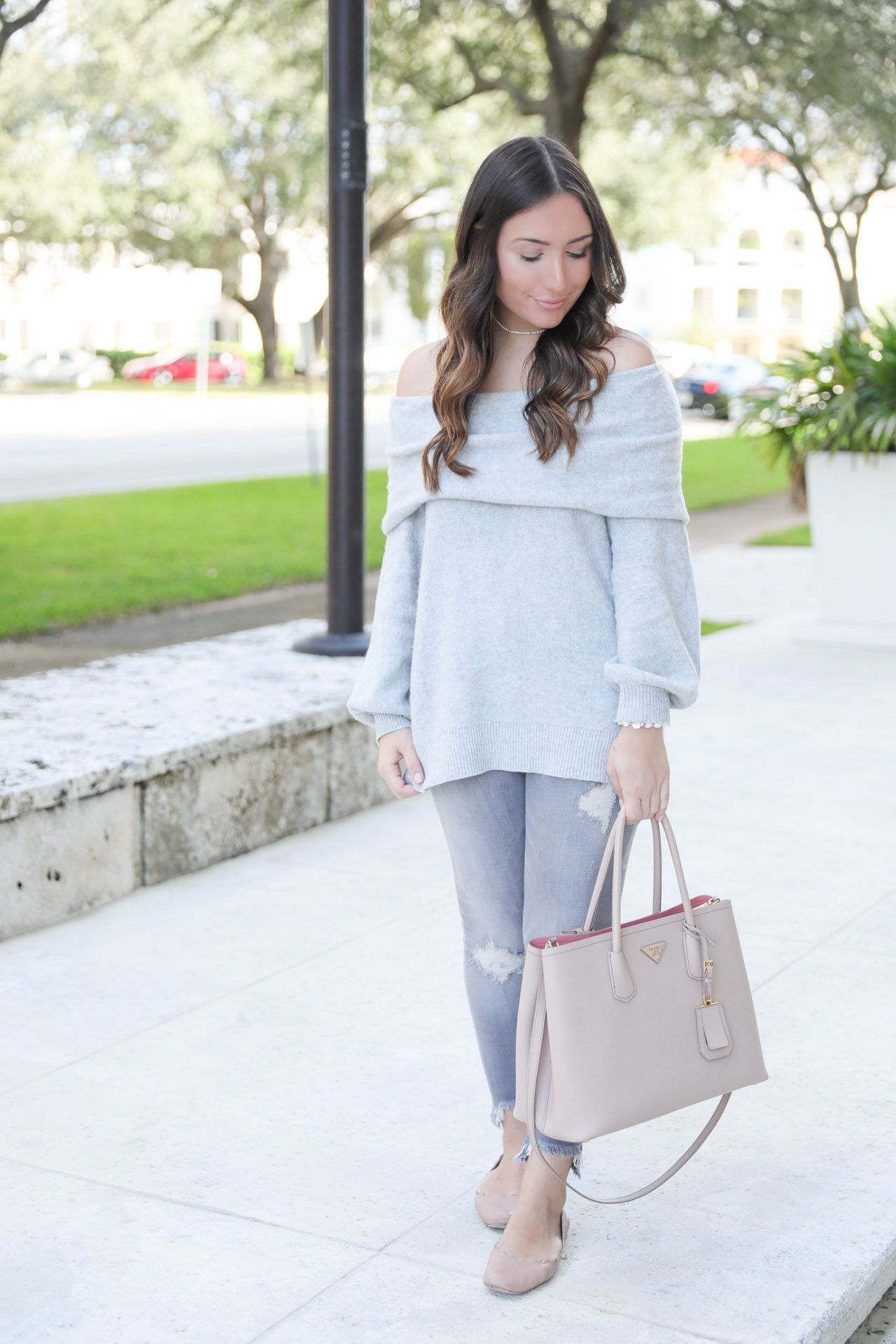 Gray on gray on The Fashionista's Diary and the jeans are on major sale and jewelry is 30% off!