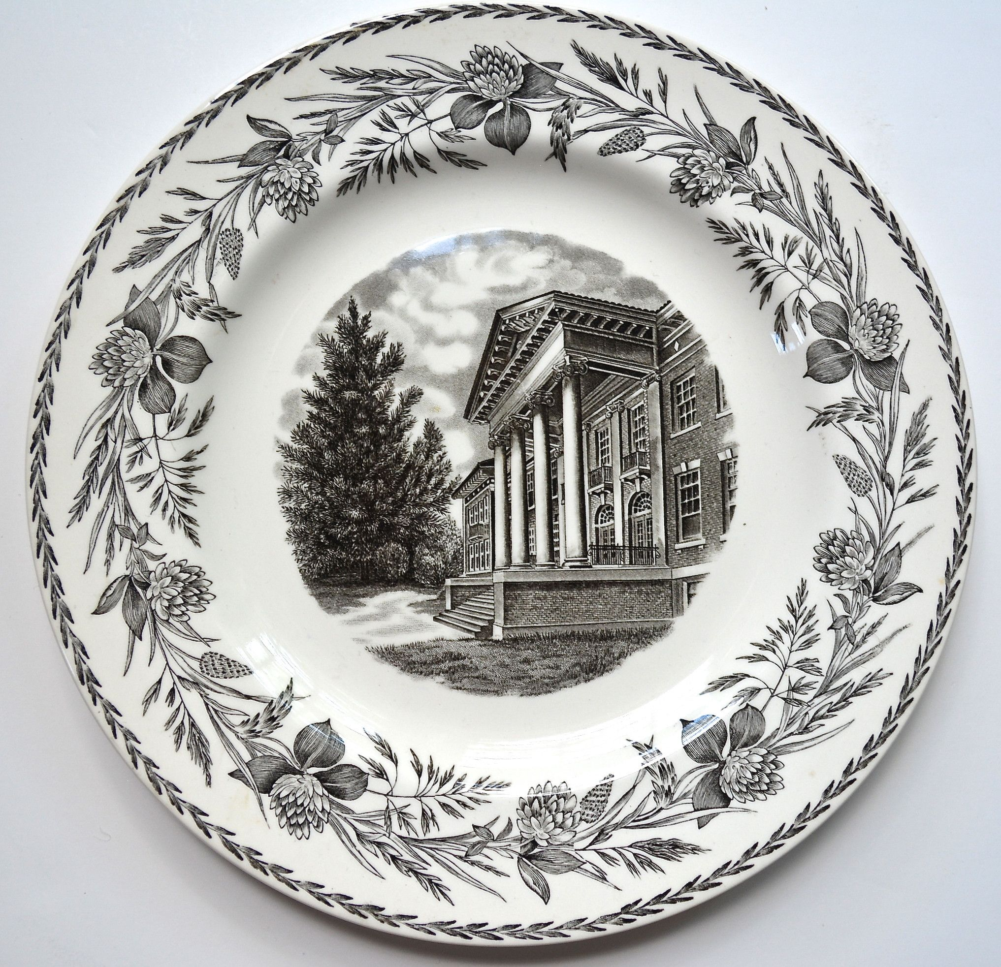 Black Decorative Plates Wedgwood College Series Black Transferware Plate Cedarcrest