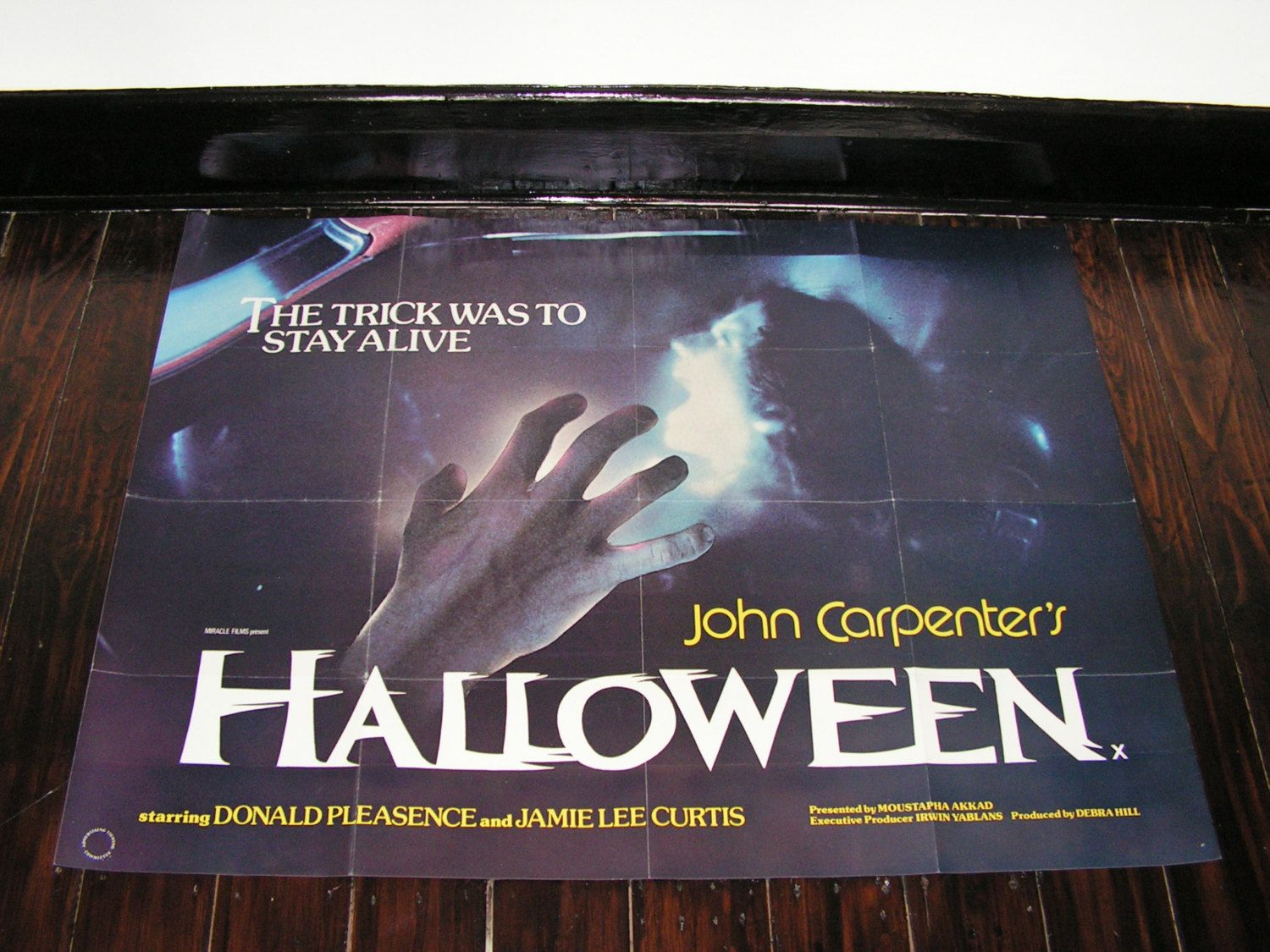 Rare Original 1978 Halloween Film Movie Poster UK Quad