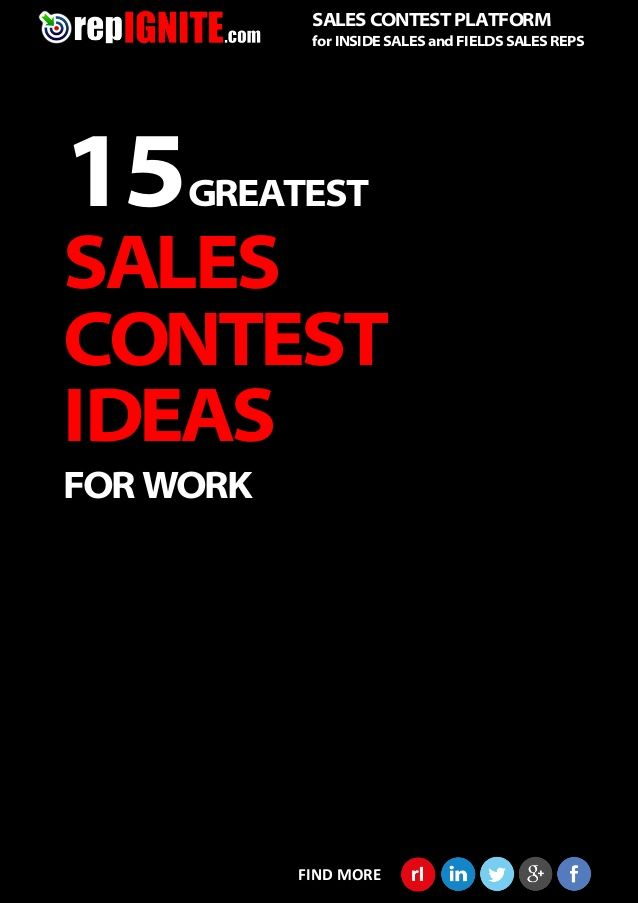 15 Greatest Sales Contest Ideas For Work Work