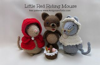 Amigurumi Patterns Wolf : Some pigs wolf and couple of mice amigurumi to go crochet knit