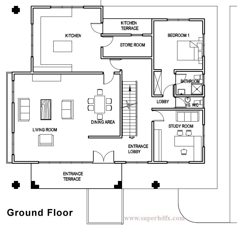 Electrical Home Design Ideas: Oak Home Floor Plan For New Home Construction In Jupiter