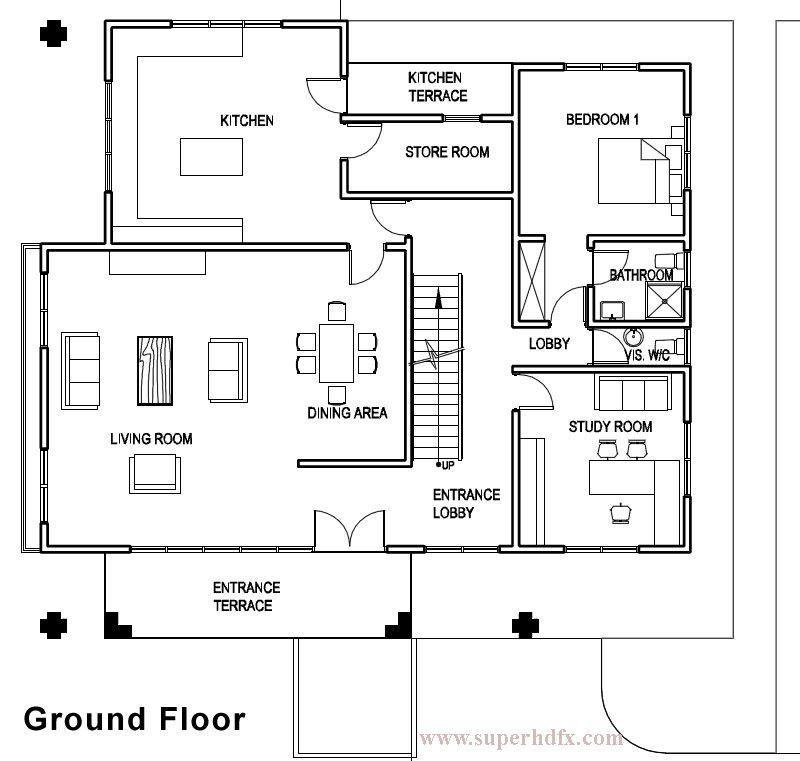 Oak home floor plan for new home construction in Jupiter