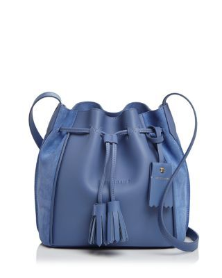 810698edf618 LONGCHAMP Penelope Leather Bucket Bag.  longchamp  bags  shoulder bags   bucket  suede