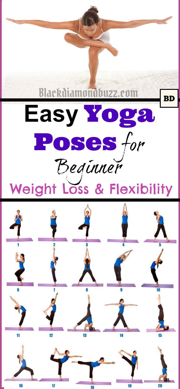 Easy Morning Yoga Poses For Beginner Weight Loss And Flexibility At Home Yogaweightloss